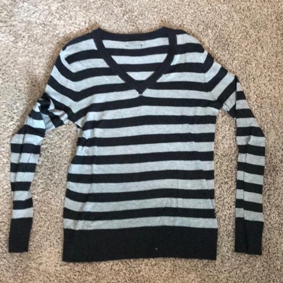 BCBGMaxAzria Sweaters - Gray and black striped sweater, Max Azria large